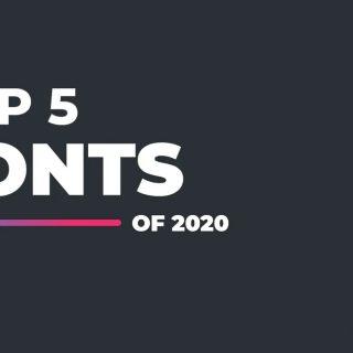Top Best 5 Fonts Of 2020