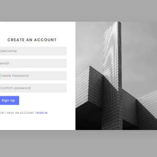 Create Sign Up Form In HTML and CSS