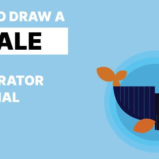 how to draw whale in adobe illustrater